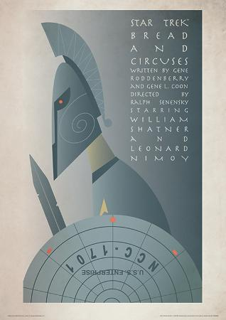 Star Trek (Bread And Circuses) Vintage Style Television Poster