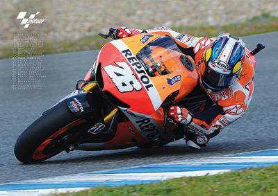 Moto GP (Pedrosa) Motorcycle Sports Poster