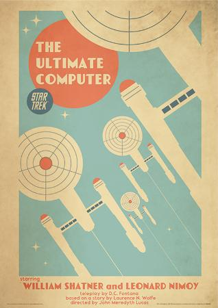 Star Trek - The Ultimate Computer Vintage Style Television Poster
