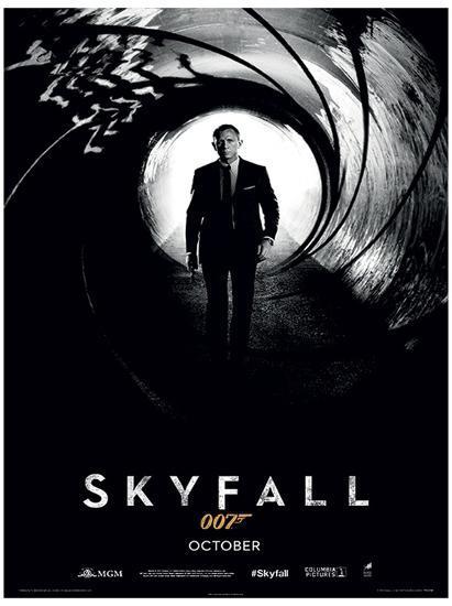 James Bond Skyfall Teaser Movie Poster Print