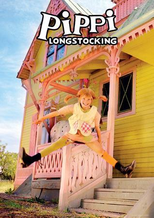 Pippi Longstocking - Jumping Movie Poster Print