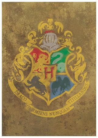 Harry Potter (Hogwarts Crest) Movie Poster