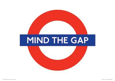 London Underground (Mind The Gap) Travel Poster