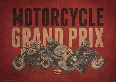 Moto GP (Grand Prix)  Motorcycle Sports Poster