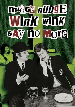 Monty Python (Nudge Nudge Wink Wink) Television Poster