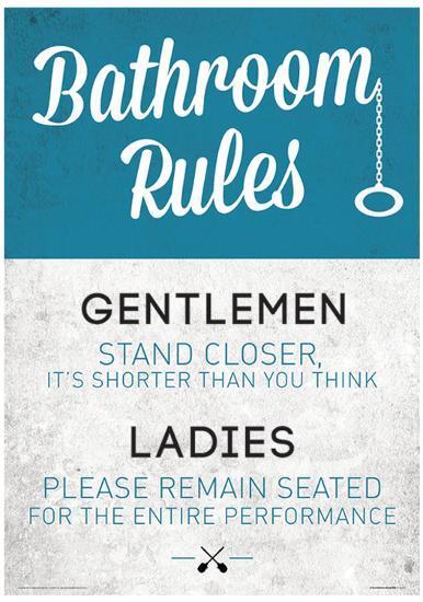 Sensational Bathroom Rules Funny Sign Poster Interior Design Ideas Ghosoteloinfo