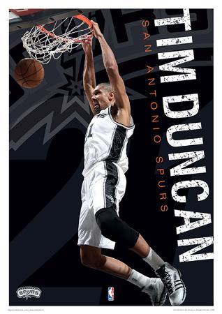 NBA - Tim Duncan Basketball Sports Poster