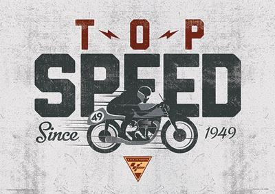 Moto GP (Top Speed) Motorcycle Sports Poster