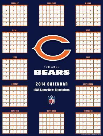 Chicago Bears - 2014 Giant Poster Calendar