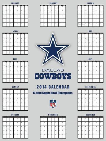 Dallas Cowboys - 2014 Giant Poster Calendar