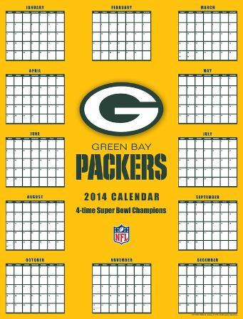 Green Bay Packers - 2014 Giant Poster Calendar