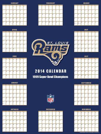 St Louis Rams - 2014 Giant Poster Calendar