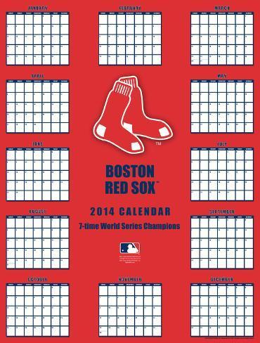 Boston Red Sox 2014 Giant Poster Calendar Calendars At Allposters Com