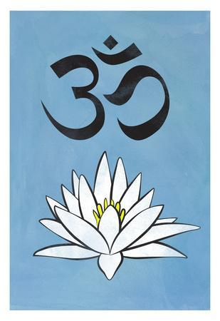 Lotus Meditation AUM Blue
