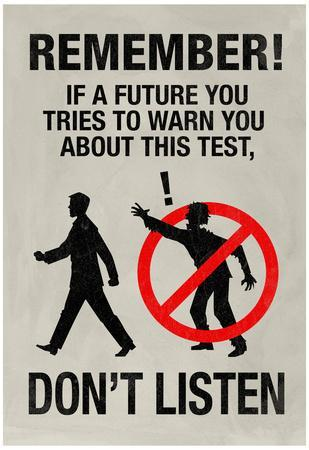 If a Future You Tries To Warn You Video Game Poster