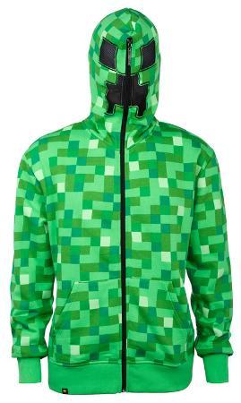 Youth Zip Hoodie: Minecraft Creeper