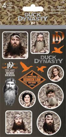 Duck Dynasty Stickers - 4 Sheets