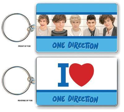 One Direction - I Love Double Sided Keychain