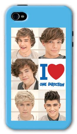One Direction Blue iPhone 4/4s Case