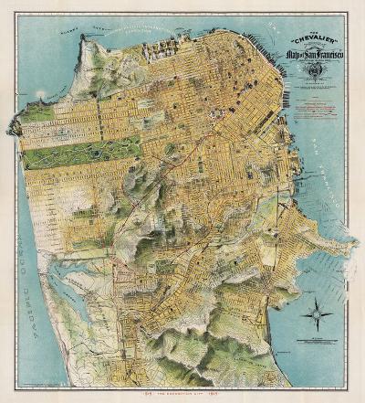 Map of San Francisco, California, 1912
