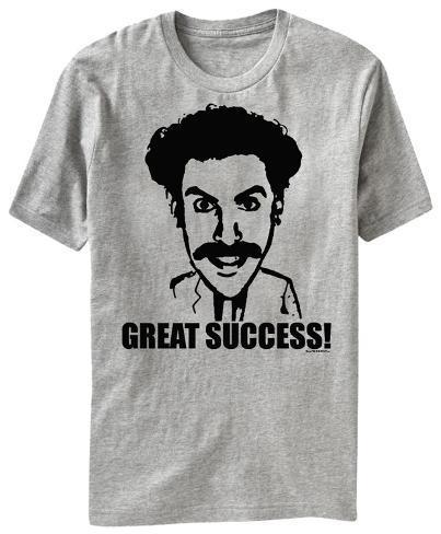 Borat This Shirt Is Black Not Sport Grey T Shirt
