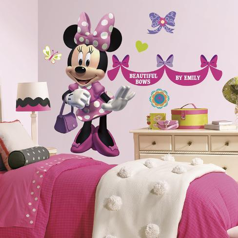 Minnie Mouse Bowtique Peel Stick Wall Decals Wpersonalization