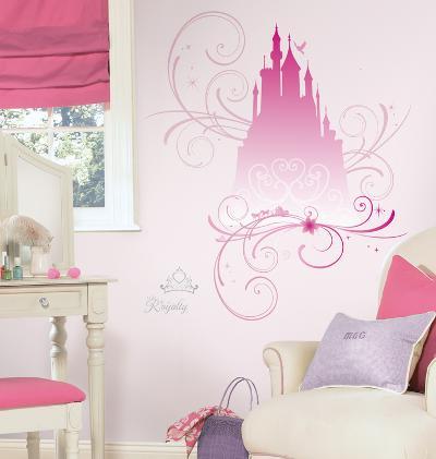 Disney Princess - Scroll Castle Peel & Stick Giant Wall Decals w/Glitter