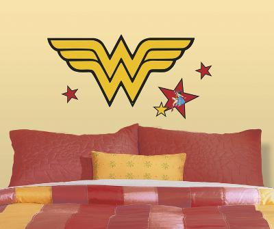 Classic Wonder Woman Logo Peel and Stick Giant Wall Decals