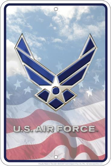Air Force Flag Embossed Tin Sign Tin Sign At Allposters Com