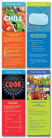 Food Safety (Four posters included) Laminated Educational Poster Set