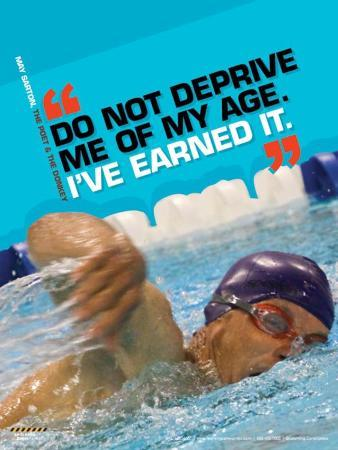Active Older Adult Poster - Swimming Laminated Educational Poster