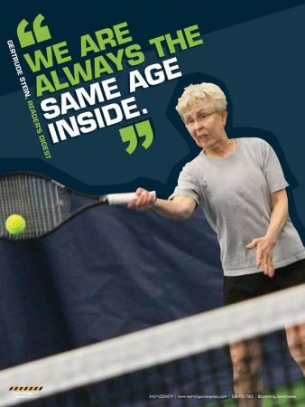 Active Older Adult Poster - Tennis Laminated Educational Poster