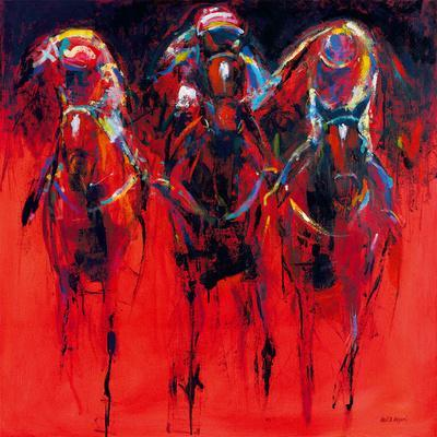 Racehorses - Red