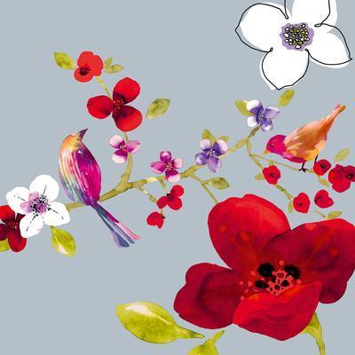 Spring Blossom Birds II