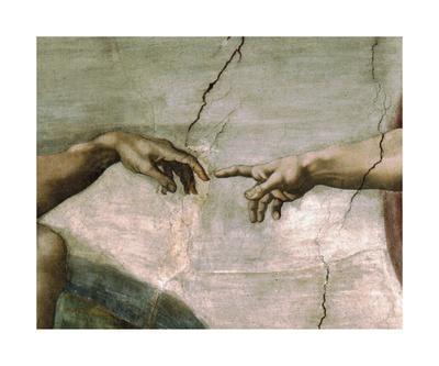 Creation of Adam - Detail