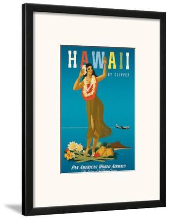 Hawaii By Clipper, Pan American Airways, Hula Girl, c.1950