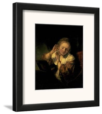 Young Woman Trying Earrings, 1654