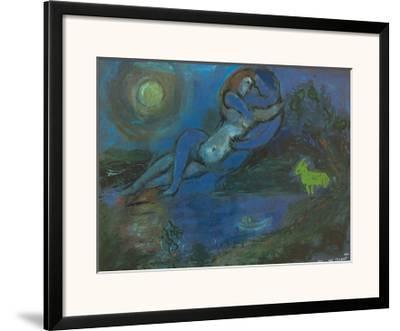 Blaues Paar am Wasser