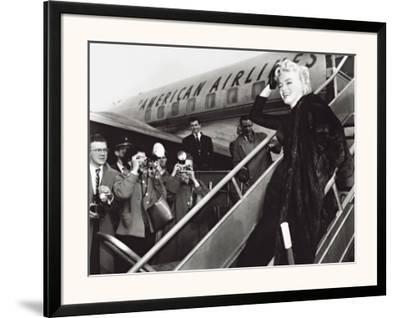 Marilyn Monroe Boards Airplane, New York, c.1956