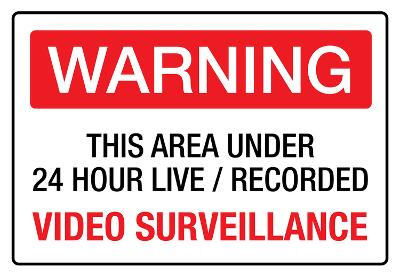 Warning Area Under Video Surveillance Sign Poster