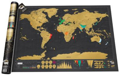 Scratch Map Deluxe Edition Poster