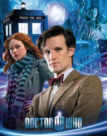 Doctor Who - The Doctor and Amy TV Poster Card
