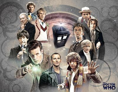 Doctor Who Doctors Collage TV Poster Card