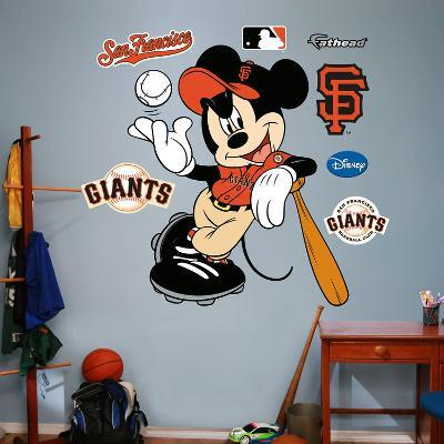 Mickey Mouse - San Francisco Giants Wall Decal