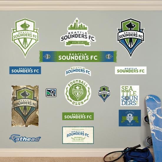 mls seattle sounders seattle sounders logo collection wall decal