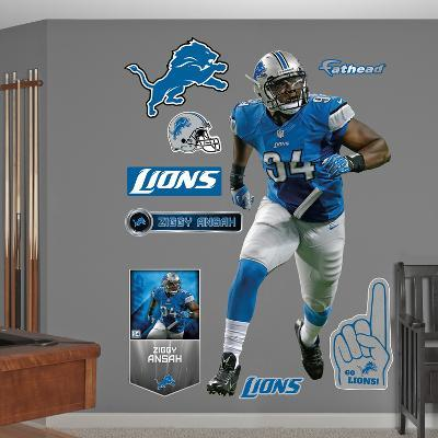 NFL Detroit Lions Ziggy Ansah Wall Decal