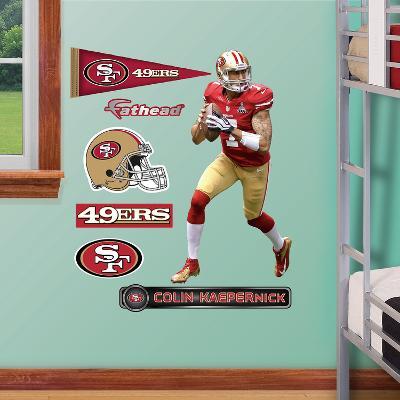 NFL San Francisco 49ers Colin Kaepernick Fathead Jr. Wall Decal