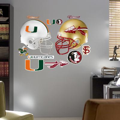 Florida State - Miami Rivalry Pack Wall Decal