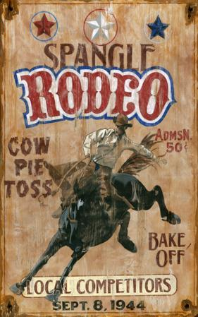 Spangle Rodeo Wood Sign