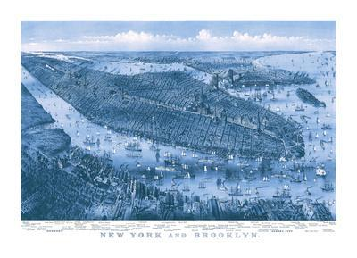 New York and Brooklyn, c. 1875